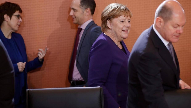 Nữ thủ tướng Đức Angela Merkel trong buổi công bố dự luật nhập cư mới của Đức