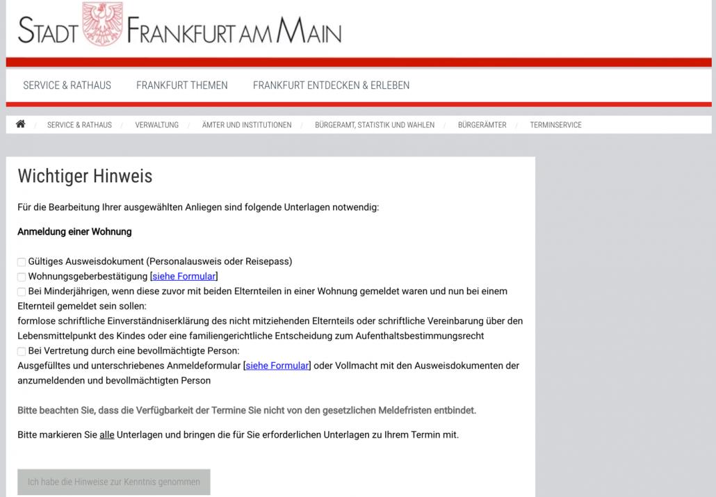 hướng dẫn đăng ký tạm trú tại Đức -Đặt lịch đăng ký P2