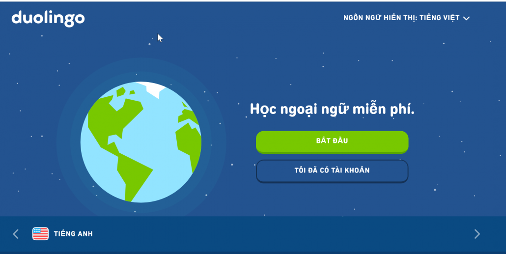Duolingo-Bước 1
