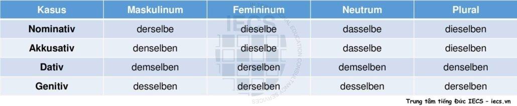 Đại từ chỉ định derselbe, dieselbe, ...