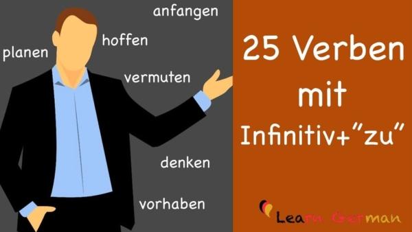 25 Verben mit Infinitiv + zu
