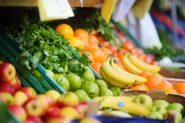 Chợ trời bán lương thực thực phẩm tại Frankfurt