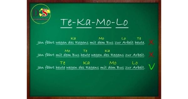Trật tự từ trong câu theo qui tắc TeKaMoLo