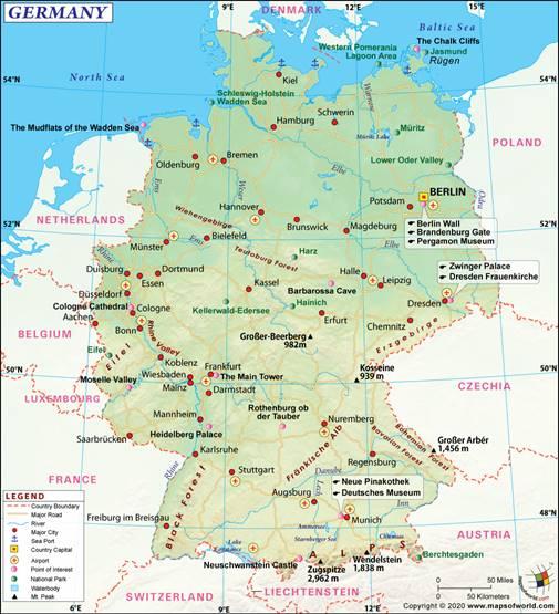 Bản đồ nước Đức (3)