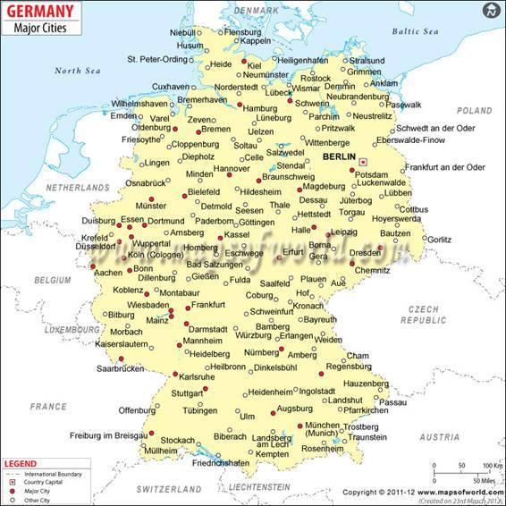 Bản đồ nước Đức (4)