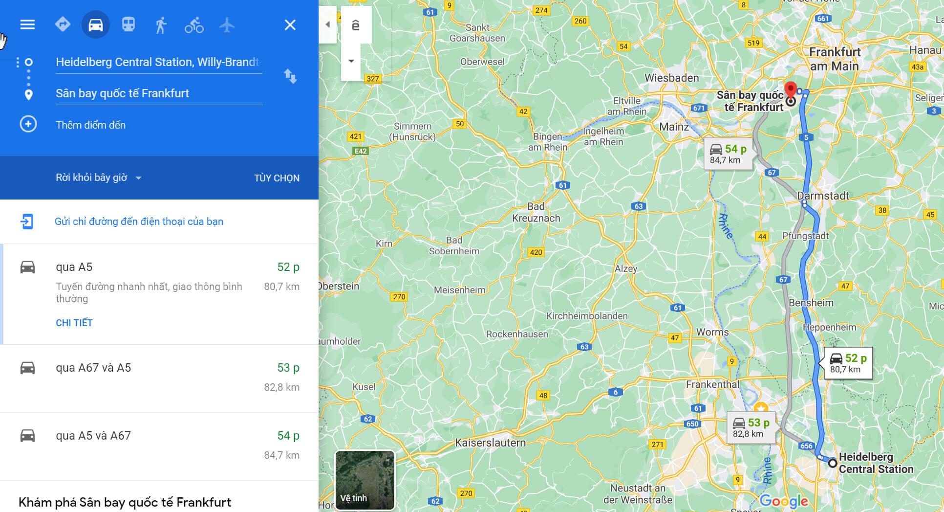 Sân bay Frankfurt - Di chuyển bằng auto (1)