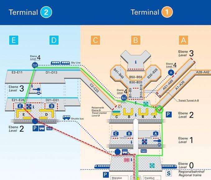 bản đồ sân bay Frankfurt