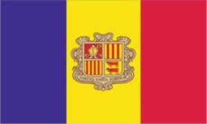 Cờ các nước châu Âu - Andorra