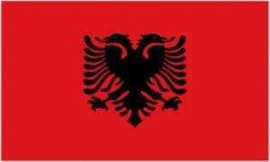 Cờ các nước châu Âu - Cộng hoà Albania